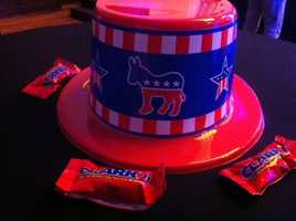 Clark candy bars were set out for Ky. Sen. Perry Clark.