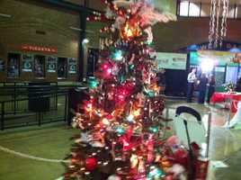 The 23rd annual festival of trees and lights gets underway at Slugger Field.