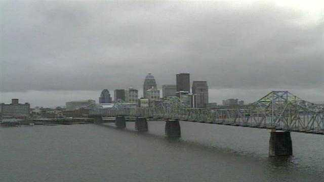 11.12.12 Rain Louisville skyline weather