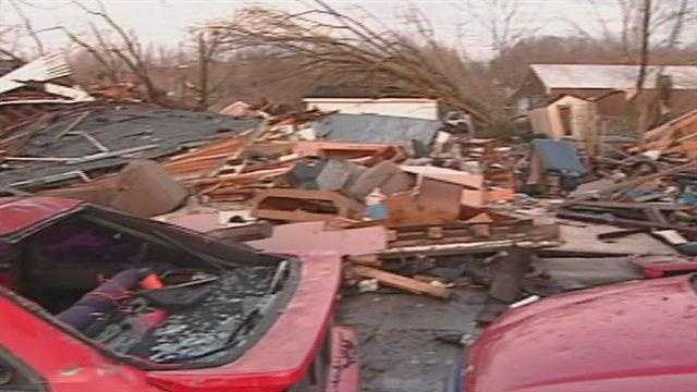 A southern Indiana contractor is accused of defrauding a victim of the deadly March 2 tornado outbreak in Henryville.