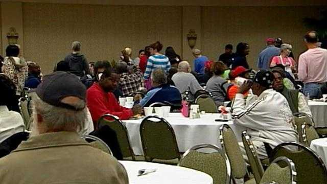 About 700 volunteers from the Wayside Christian Mission prepare special holiday meals for the less fortunate.