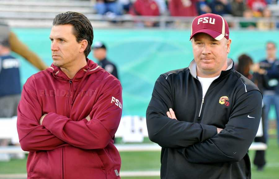 Against SEC competition, the Seminoles had a stellar record under the Jimbo Fisher/Stoops era. FSU was 3-1 against the SEC. That includes a 2-1 record against Florida (the lone loss coming last weekend) -- (Pictured with FSU offensive coordinator James Coley)