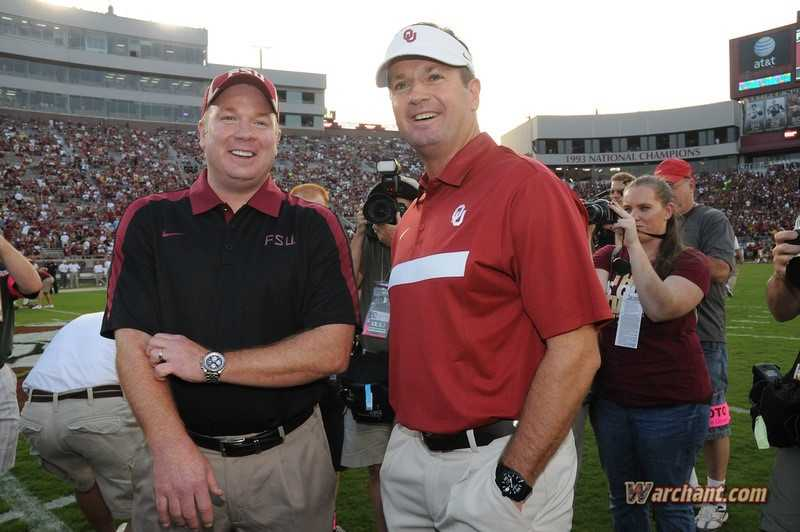 Mike is currently the defensive coordinator on Bob's staff at Oklahoma.