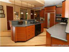 Alternate view of the kitchen allows you to see the modern features this kitchen has to offer.