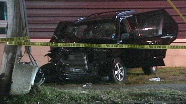 A man is recovering after he was shot while driving through Butchertown and then crashed his car into a utility pole early Sunday morning.