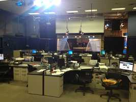 Newsroom view from the assignment desk