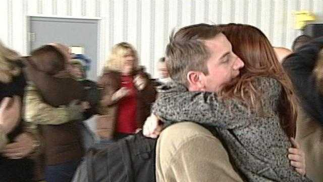 Millions are traveling to be with their loved ones for the holiday, but a few dozen local soldiers landed Friday after a much longer journey home, just in time for Christmas