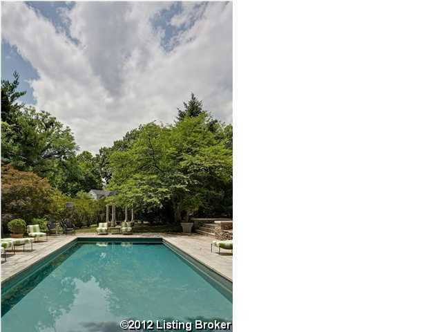 Gorgeous pool is nestled by the lush landscaping for added privacy for added privacy. For more information on this property, visit Realtor.com.