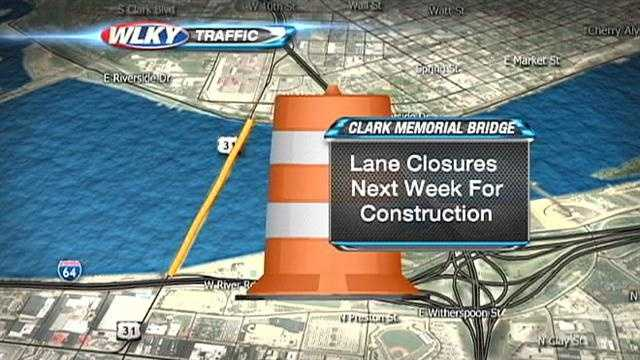 Construction begins on Clark Memorial Bridge Monday