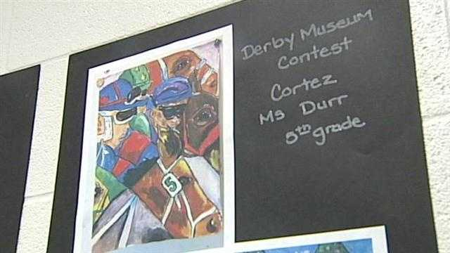 Breckenridde-Franklin fifth-grader Cortez Vinson is the winner of this year's Kentucky Derby Museum art contest.