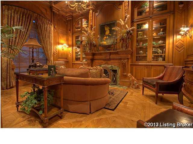 exquisite craftsmanship went into the design on this wooden unit. It is absolutely the focal point of the room.