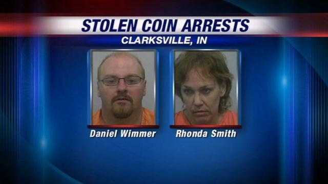 A couple accused of stealing more than $100,000 worth of rare coins, cash and jewelry from a Clarksville man's home has been caught 700 miles away.