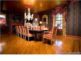 Formal dining room.