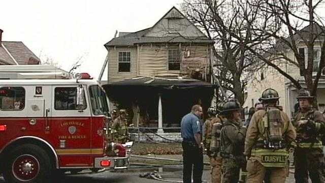 A west Louisville couple and their children are forced to jump off the roof of their burning home.