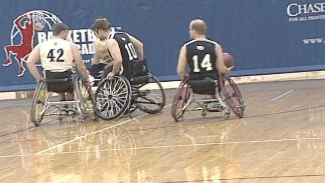 Hundreds of athletes who use wheelchairs are taking the court this weekend in Louisville in the Bluegrass Invitational Basketball Tournament.