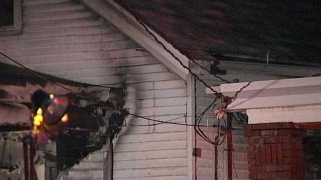 A man was rushed to an area hospital with severe burns after fire broke out at a Germantown home.