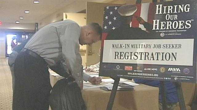 Thursday was a big day for local veterans looking for jobs.