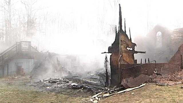 A family and their dogs escaped uninjured after their home caught fire Friday morning.