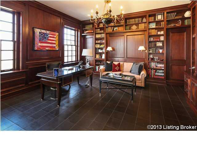 Spacious study/office area.