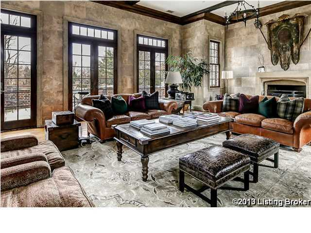Formal living room has more of a masculine edge.