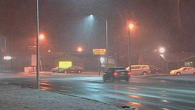 Tuesday night's wintry weather posed some challenges for people out on the roads.