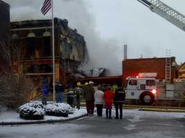 Three buildings caught fire at 7th and Main streets in Shelbyville.