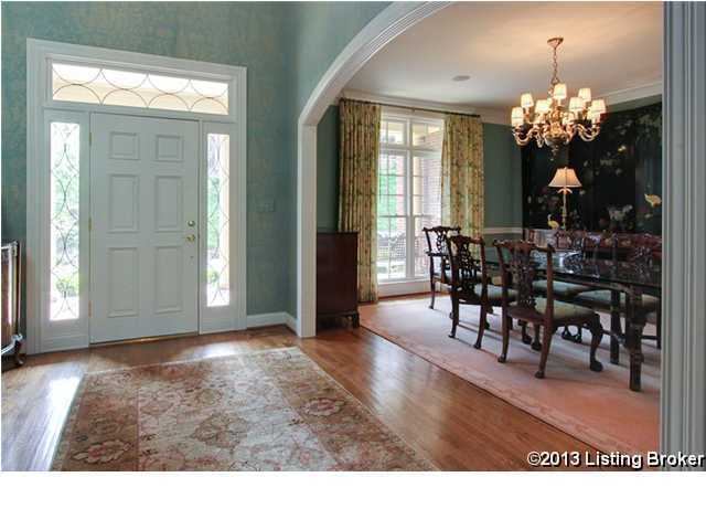 Gorgeous formal dining room is adjacent to the beautiful foyer.
