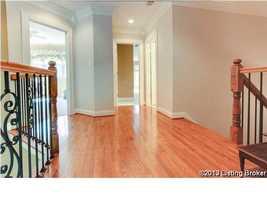 Wonderful hard-wood floors on the second level.