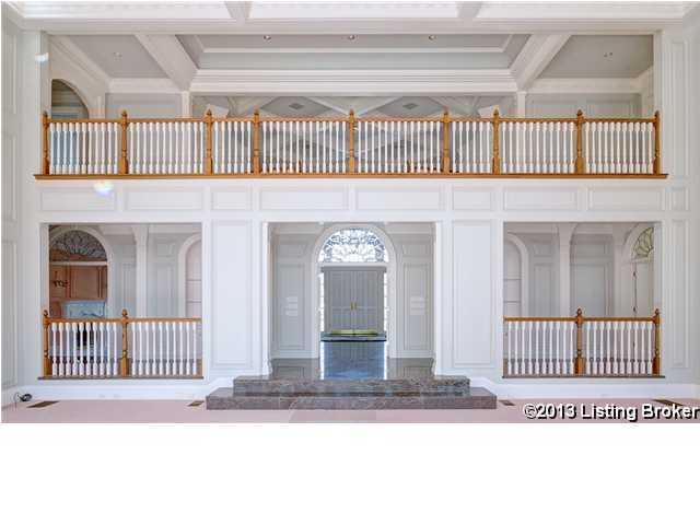 This focal point shows the second story balcony view from the living room.