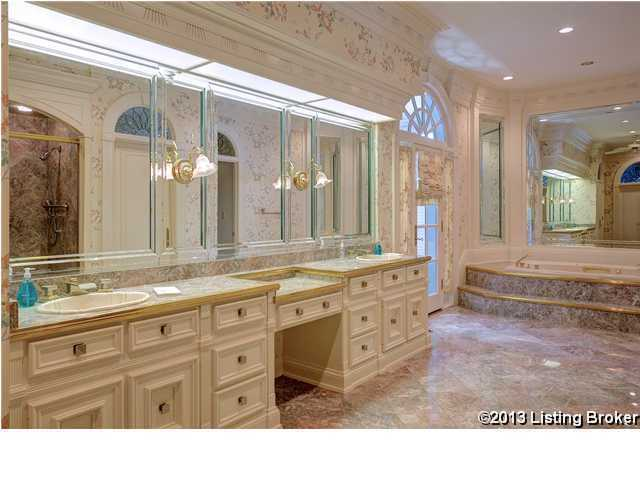 Master bathroom is one of 10 bathrooms in the home.