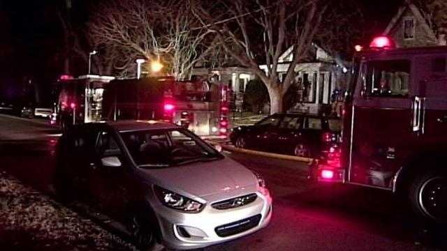 Authorities are investigating a fire at a home in the Crescent Hill area.
