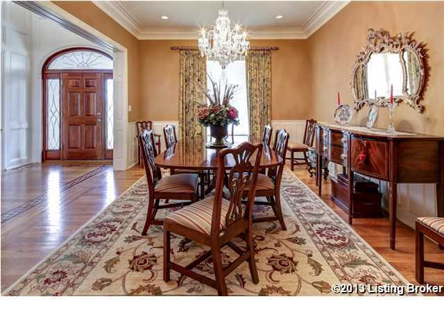 Formal dining room has plenty of classic charm, while providing seating for six.