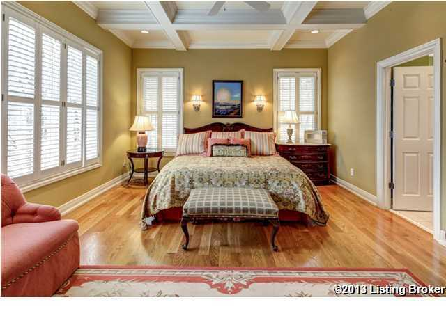 Master bedroom is one of four bedrooms in the home and has its own sitting area as well.