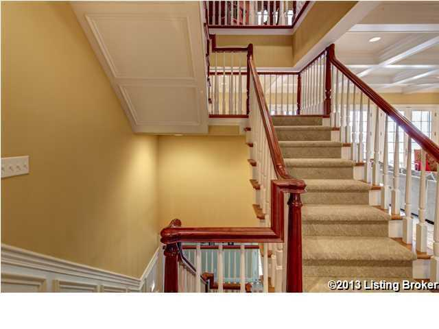 Three-story stair case.