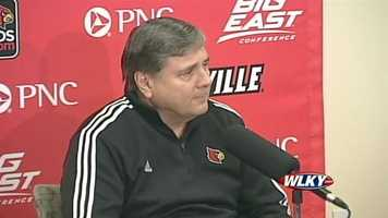 University of Louisville Athletic Director Tom Jurich talks about the men's and women's Final Four bound basketball teams and guard Kevin Ware's injury.