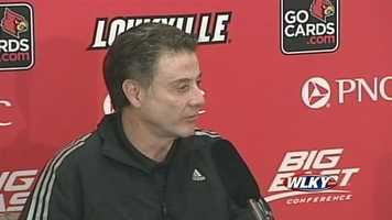 University of Louisville head coach Rick Pitino discusses the injury to guard Kevin Ware and the Cardinals' Final Four opponent, Wichita State.