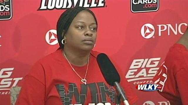 University of Louisville guard Kevin Ware's mother, Lisa Junior, discusses his injury, which captured national attention and the Cardinals' Final Four run