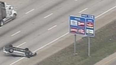 rollover accident I-64 Outerloop