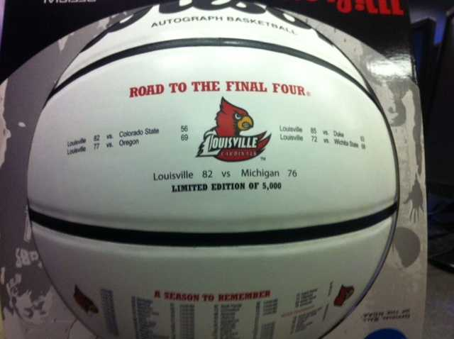 The basketball, made by Wilson, will be sold to raise money for local Make A Wish Foundation.