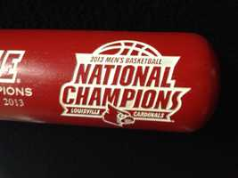 Each bat is laser engraved with the UofL logo in addition to the limited-edition numbering and the National Champions logo.