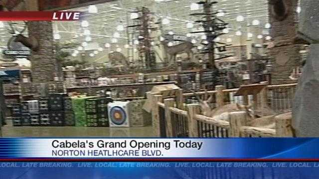 Thursday is the grand opening of the Cabela's store in Louisville