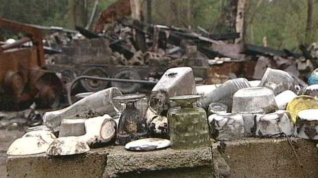 An airplane, multiple vehicles and precious family property were all destroyed by an arsonist in Jeffersonville.
