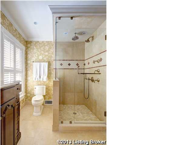 Master bathroom makes up for luxury what it lacks in space.