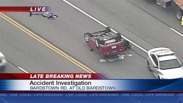 Rollover accident on Bardstown Rd.