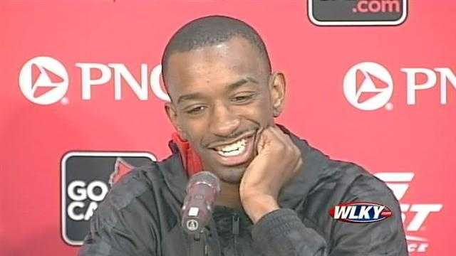 University of Louisville guard Russ Smith talks about his decision to return to the team for his senior season.