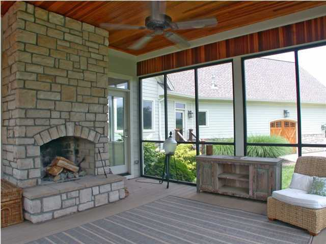 Screened in patio, shows one of 4 patios.