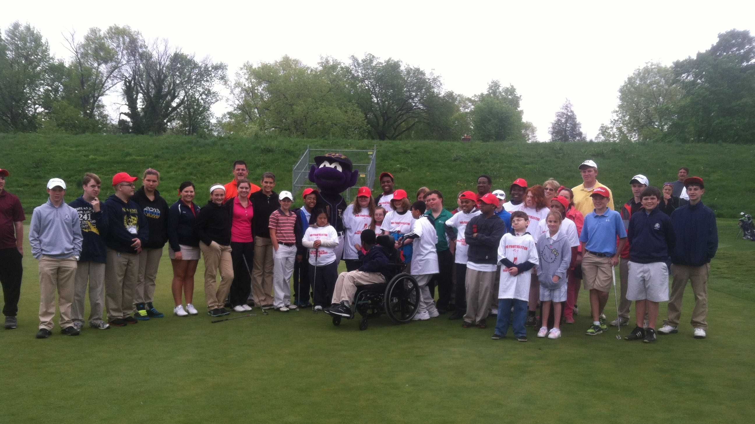 It's a Derby tradition going back more than three decades&#x3B; dozens of mentally and physically challenged children experienced the thrill of the game of golf during the Don Fightmaster golf outing.