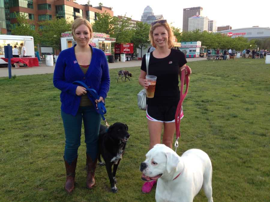 People and pets enjoyed the nice weather and music from The Pass as part of Kentucky Derby Festival Happytail Hour, coordinated by Metro Animal Services