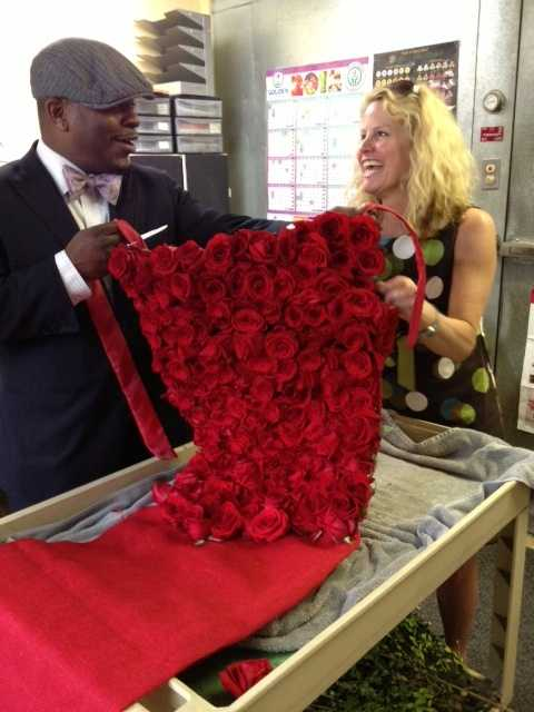 The rose dress will be worn by Shannon Voss at the second annual Unbridled Eve Derby Gala.