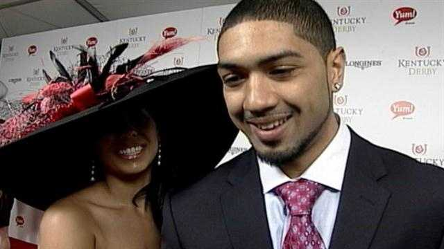 Peyton Siva on the red carpet